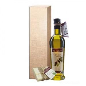 Geschenkkarton Olivenöl Seife