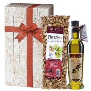 Geschenk mit Olivenöl Pistazien