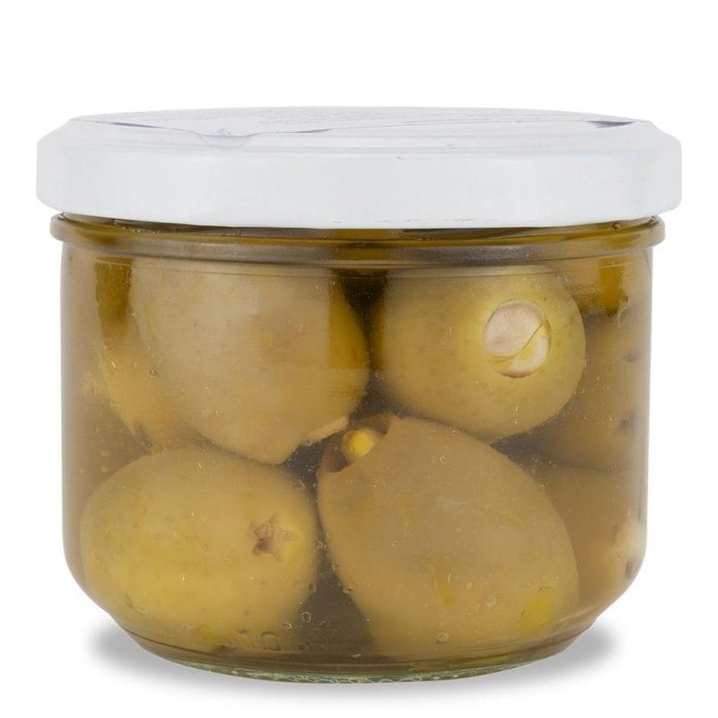 Gefuellte grüne Oliven