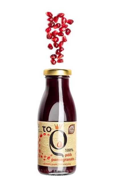 Granatapfelsaft in der Flasche