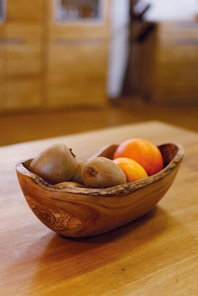 Obstschale aus Olivenholz für Früchte