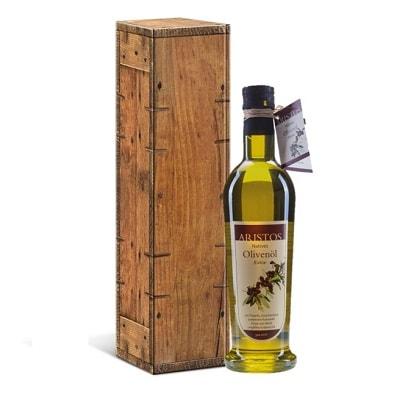 Olivenöl Holzkiste