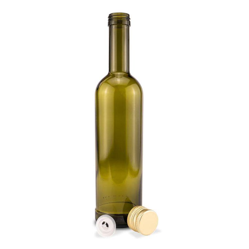 Leere Glasflasche 500 ml für Olivenöl